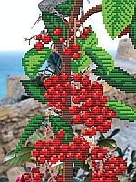 Червоні ягоди Схема вишивки бісером