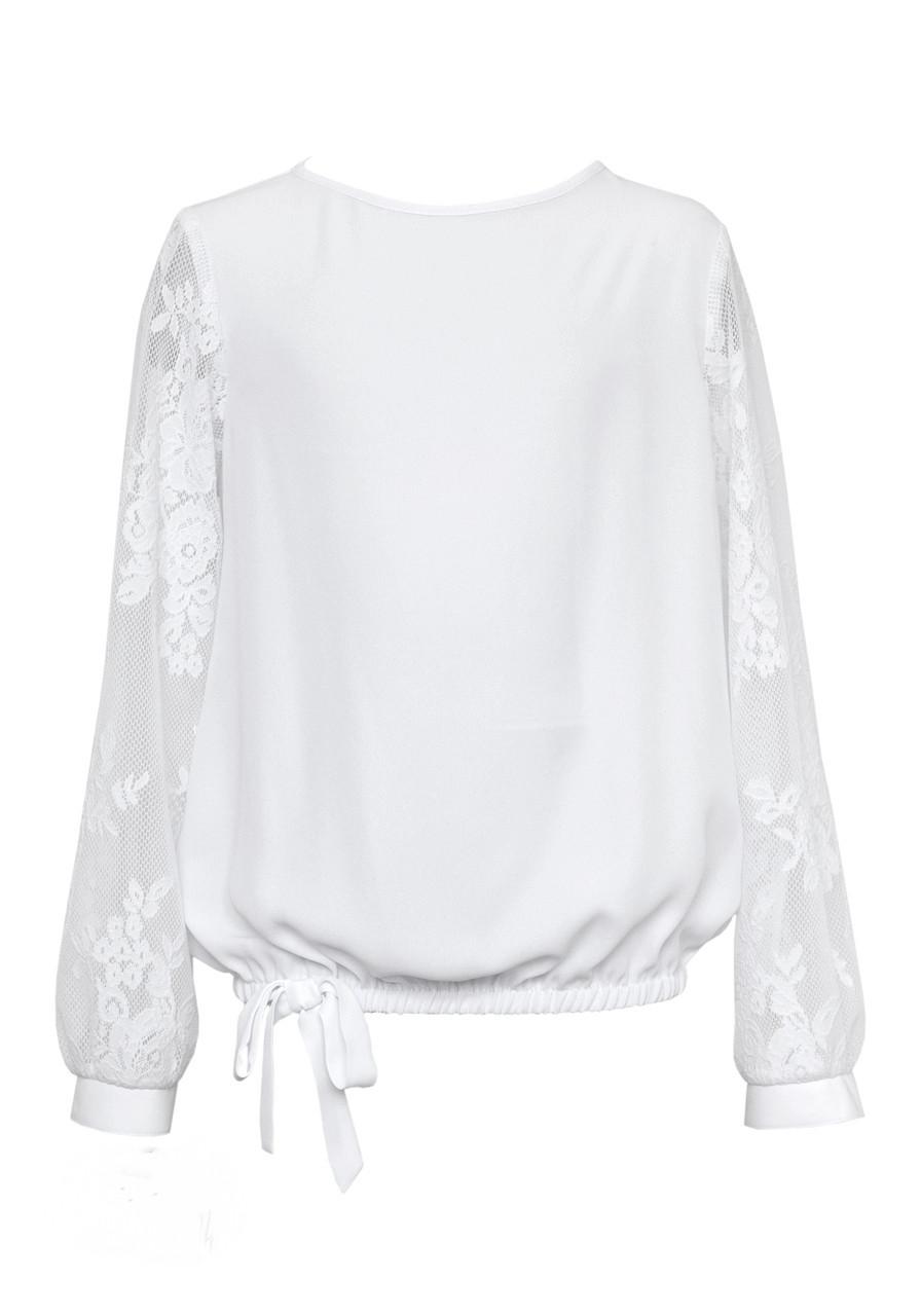 Блузка для девочки SLY 113/S/18 белая 152-164