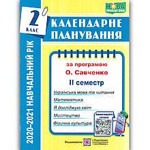 Календарне планування 2 клас ІІ семестр За програмою Савченко О. Авт: Жаркова І. Вид: Підручники і Посібники