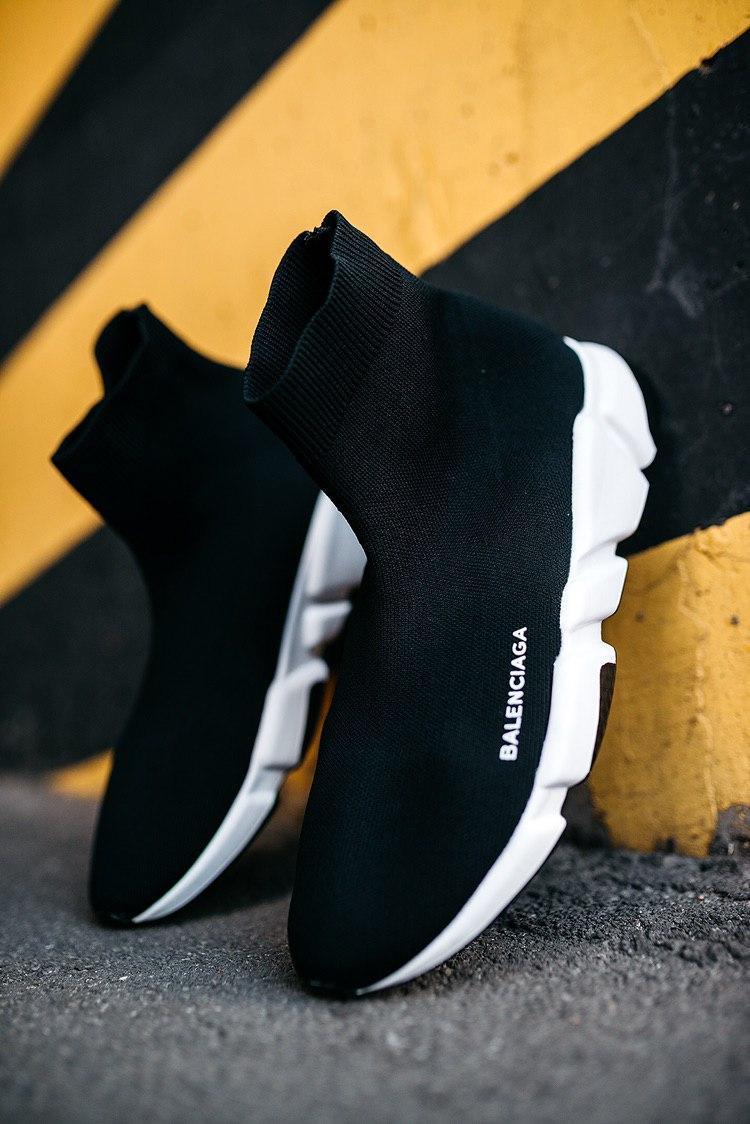 Мужские черные Кроссовки Balenciaga Speed Trainers (реплика)