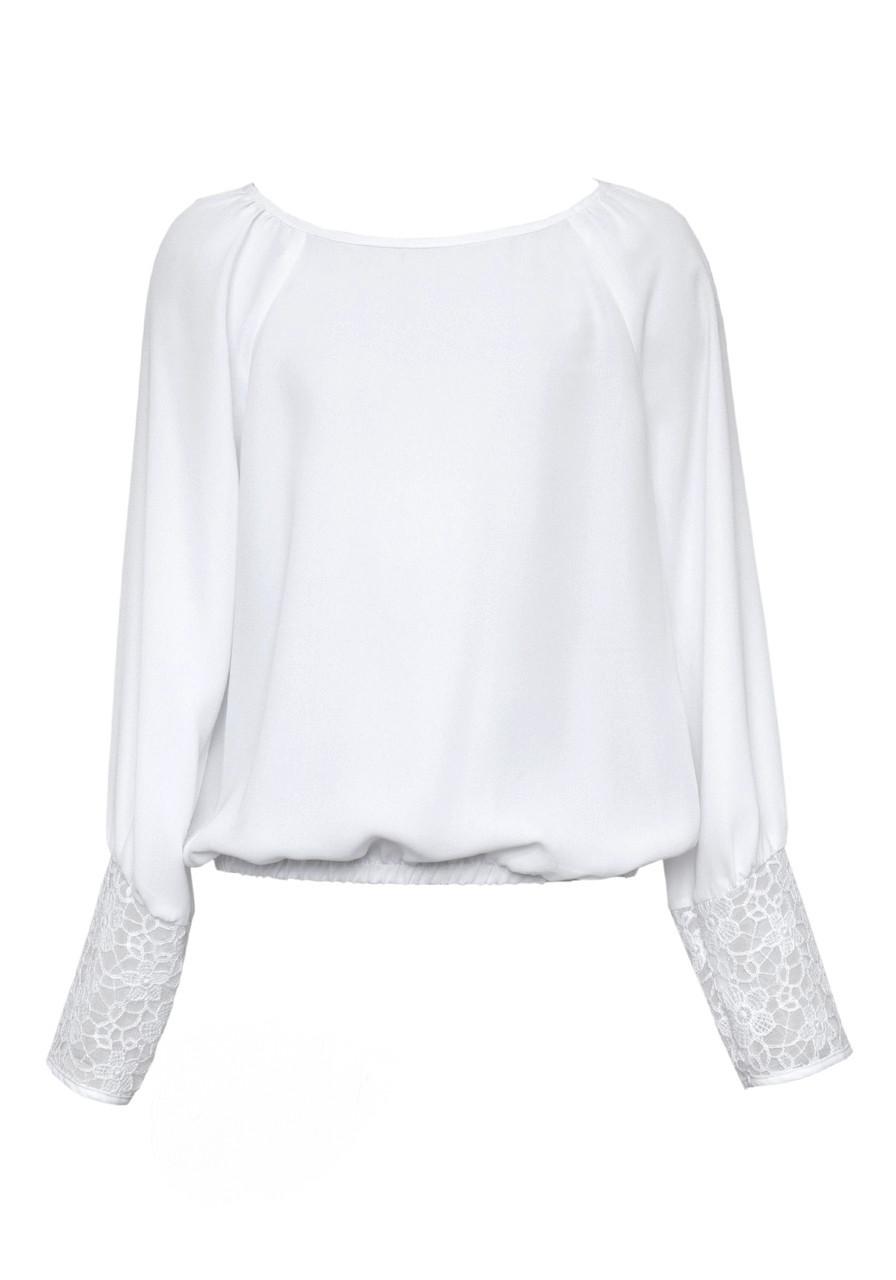 Блузка для дівчинки SLY 124/S/18 біла 158-164