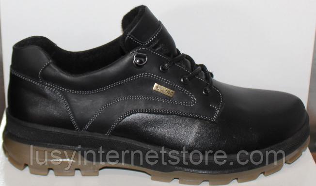 Туфли осенние на байке мужские кожаные от производителя модель ДР1116
