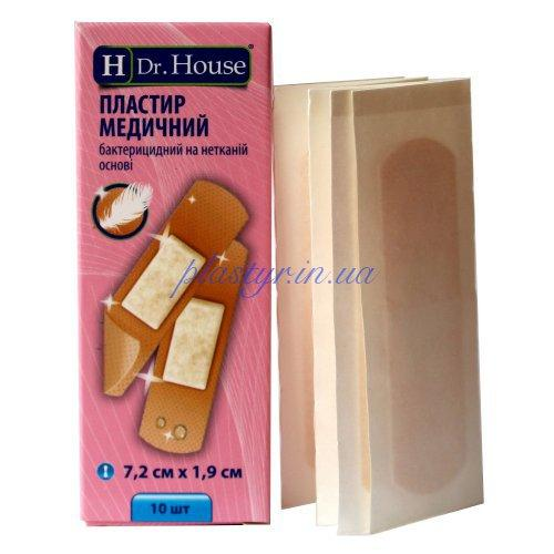 Набор пластырей Dr.House бактер неткан 1,9смх7,2см 10шт