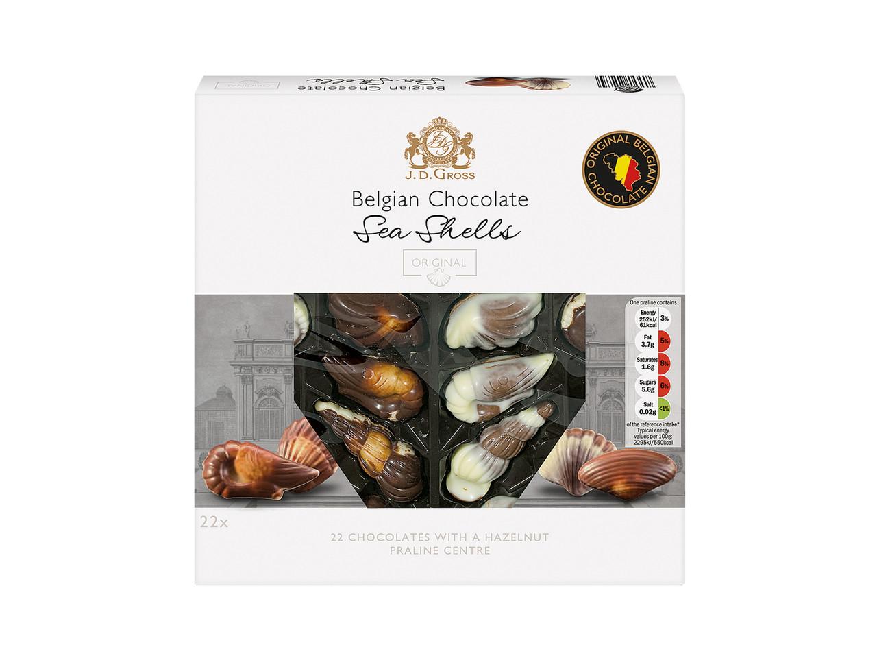 Цукерки J.D.Gross Sea Shells з начинкою праліне 250 г