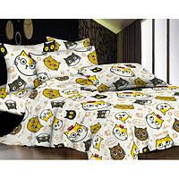 Детский комплект постельного белья «Cat Faces» Бязь Голд Люкс CatFaces-4121, Полуторный комплект