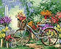 """Картина по номерам. Art Craft """"Велосипед в цветах"""" 40*50см 12501, картины по номерам,раскраски с"""