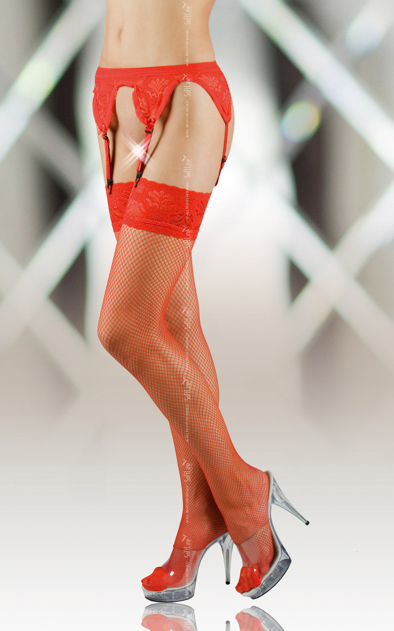 Чулки - Stockings 5522, red