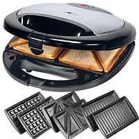 Бутербродниця, вафельниця,гриль-тостер, сендвичница Crownberg CB 1071 (3 в 1)