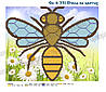 Бджоли на квітах Схема вишивки бісером
