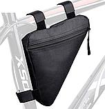 Вело сумка подрамная треугольная велосипедная сумка для велосипеда, велосумка велобардачок, фото 6