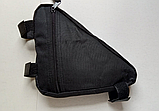 Вело сумка подрамная треугольная велосипедная сумка для велосипеда, велосумка велобардачок, фото 7