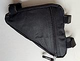 Вело сумка подрамная треугольная велосипедная сумка для велосипеда, велосумка велобардачок, фото 5