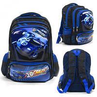 Рюкзак школьный C 43503 (50) 3D рисунок, 1 отделение, 3 кармана, массажная спинка, в пакете [Пакет- 6900067435033  C43503 (TC142724)