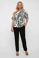 ✔️ Легкий летний льняной костюм Гавана брючный большого размера 52-58 размера в расцветках