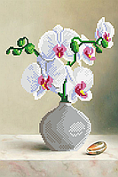 Блакитна орхідея . Схема вишивки бісером