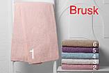 Махровая простынь полуторная 160 * 220 см Hanibaba, розовая, фото 3