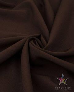 Ткань Габардин однотонный коричневый