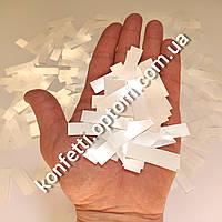 Конфетти-Метафан жемчуг (белое) 2*6 см