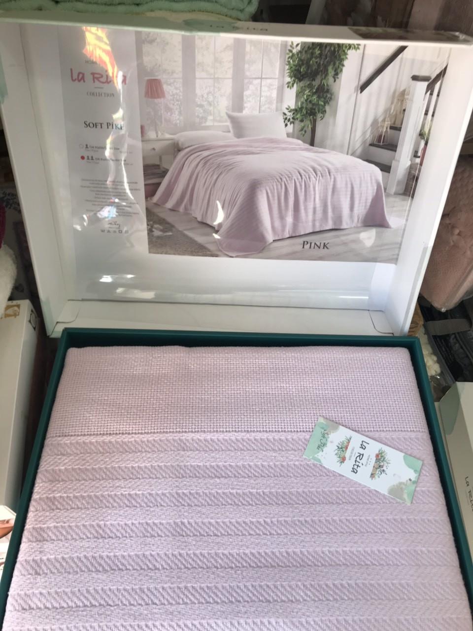 Простынь махровая 220 на 240 см  LA RITA  розовая  Новинка 2021 года!