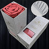 Сатиновая простынь на резинке 180х200см и 2 наволочки BELIZZA Турция красная, фото 2