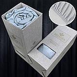 Сатиновая простынь на резинке 160х200см и 2 наволочки BELIZZA Турция фуксия, фото 2