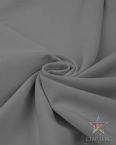 Ткань Габардин однотонный серый