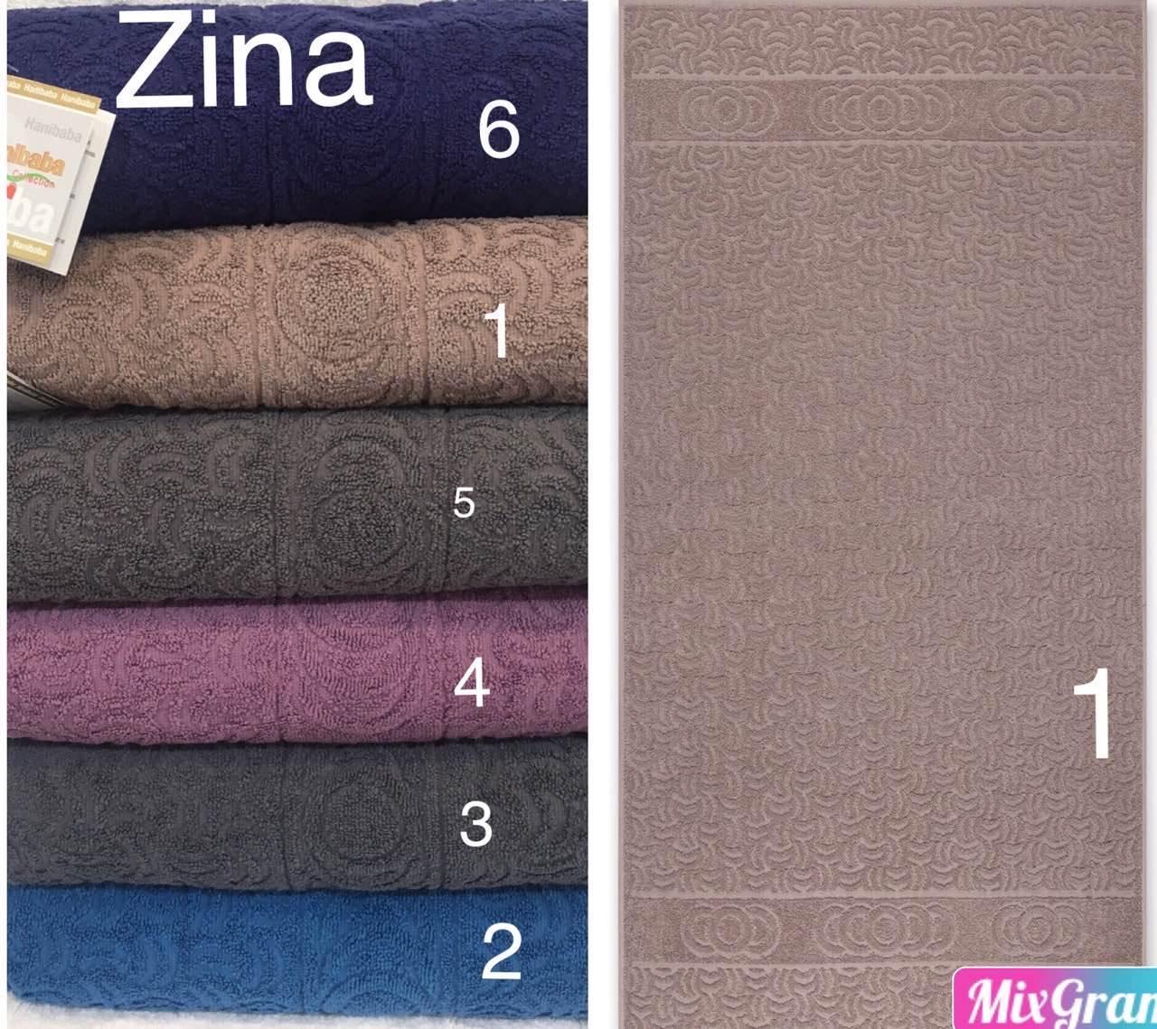 Махровая простынь 200 * 220 см Hanibaba Zina, синяя