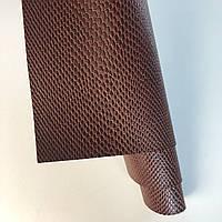 Шкірзамінник палітурний - фактура крокодил - коричневий VH234 - 25х35 см