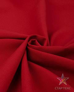 Ткань Габардин однотонный красный