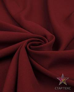 Ткань Габардин однотонный бордовый