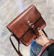 Женская сумка через плечо коричневого цвета, женская сумочка клатч, фото 2