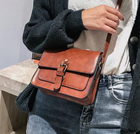 Женская сумка через плечо коричневого цвета, женская сумочка клатч