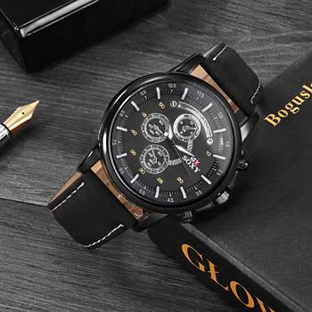 Часы мужские наручные SOXY черные с черным ремешком