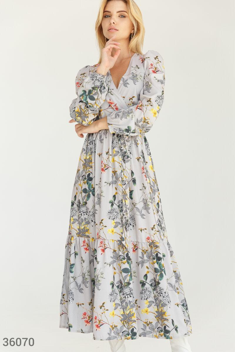 Квіткове плаття максі на запах