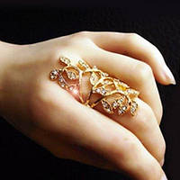 Красивое кольцо Веточка, 16 р, фото 1