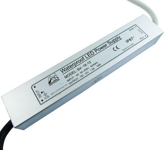 Блок живлення 12в SV-18-12 18вт герметичний для відеокамер IP67 SOARING 4841н