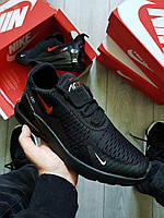 Мужские кроссовки Nike Air Max 270 Black/Red, фото 1