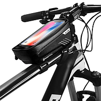 Водонепроницаемая вело сумка на раму карбон Wild Man  для телефона до 6.5 дюйма, фото 1