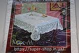 Скатерть виниловая прямоугольная 225x150 водоотталкивающая для банкета праздника ажурная, фото 7