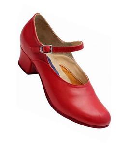 Народные туфли на каблуке