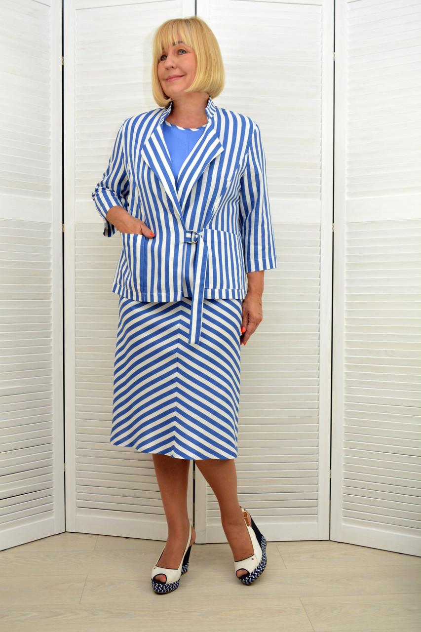 Комплект: Платье и жакет - Модель Л462-2+Л456-2