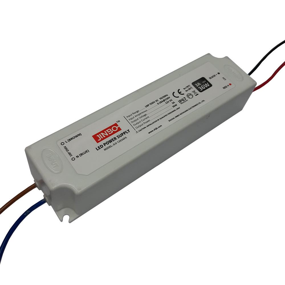 Блок питания 12вольт 36вт JLV-12036PA  герметичный IP67 JINBO 12850о