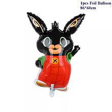 Фольгированный фигурный шар зайчик Bing Банни 86×60 см.