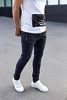 Модные мужские демисезонные джинсы Catch черные зауженные - 30