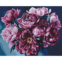 "Картина по номерам на холсте. Идейка Букет ""Признание в любви"", 40х50 см."