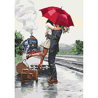 """Картина раскраска по номерам на холсте Идейка Люди """"В ожидании приключений"""" 35*50 см, сложность 3"""