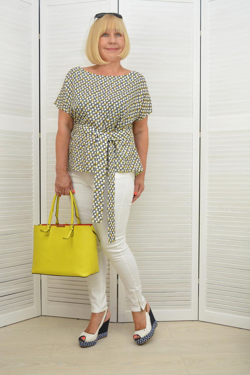 Блуза с ремнем - Модель 1326