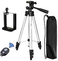 Штатив для фотоаппарата и телефона трипод Bluetooth DK-3888 + чехол Дроп