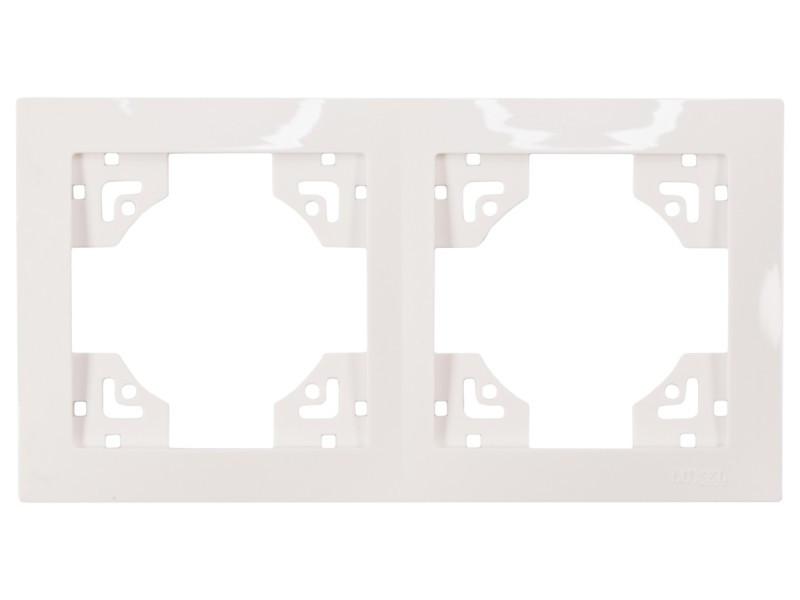 Рамка 2-я горизонтальная Luxel BRAVO (5022) белая