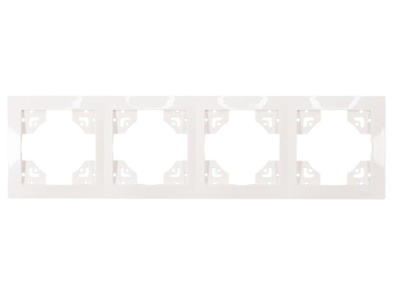 Рамка 4-я горизонтальная Luxel BRAVO (5024) белая